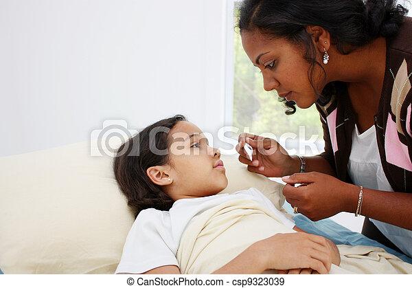 Sick Child - csp9323039