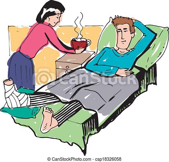 sick man vector rh canstockphoto com cartoon sick person clipart free sick person clipart