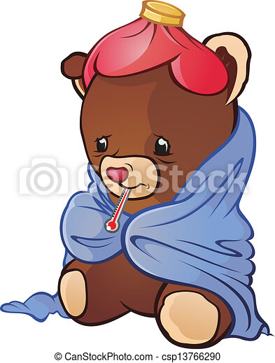 Sick teddy bear cartoon character teddy caught a cold a pretty sick teddy bear cartoon character csp13766290 altavistaventures Images