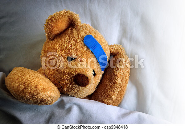 Sick Teddy - csp3348418