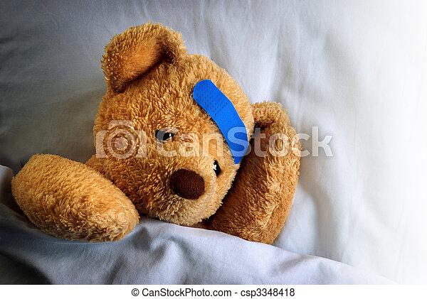Sick Teddy - csp3348418