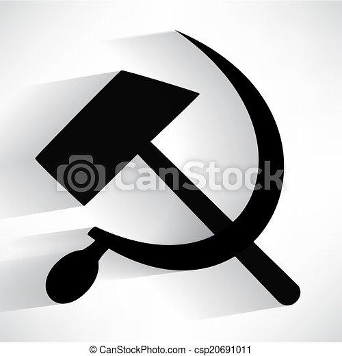 sicklsickle hammer icone - csp20691011