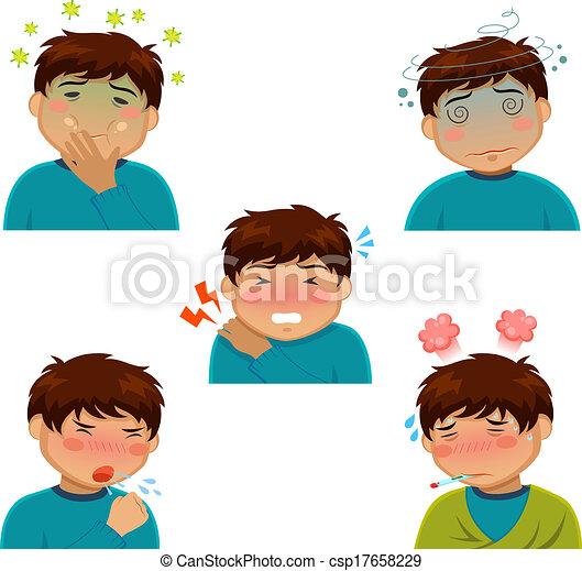 sickness symptoms - csp17658229
