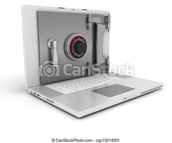 sicurezza, computer - csp13014001