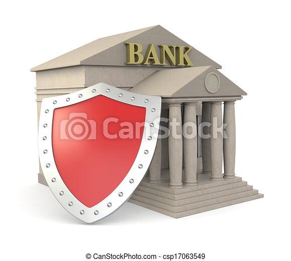 Sicurezza concetto banca costruzione scudo concetto for Aprire i piani casa artigiano concetto