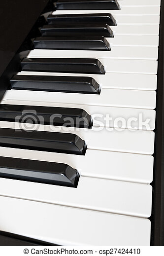 side view keys of synthesizer - csp27424410