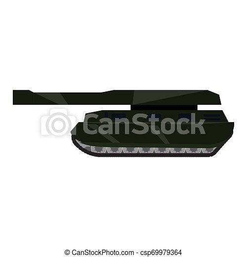 Side view of a military war tank - csp69979364