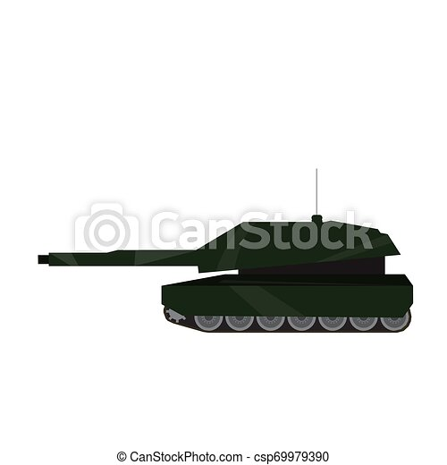 Side view of a military war tank - csp69979390
