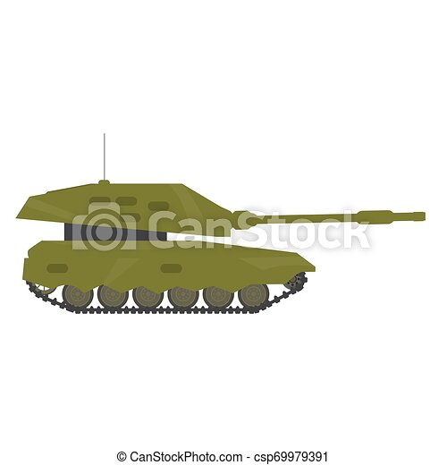 Side view of a military war tank - csp69979391