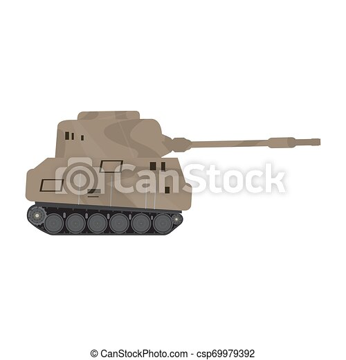 Side view of a military war tank - csp69979392