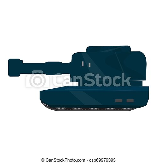 Side view of a military war tank - csp69979393