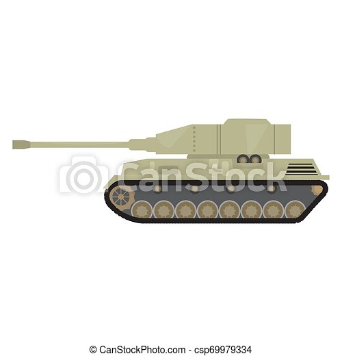 Side view of a military war tank - csp69979334