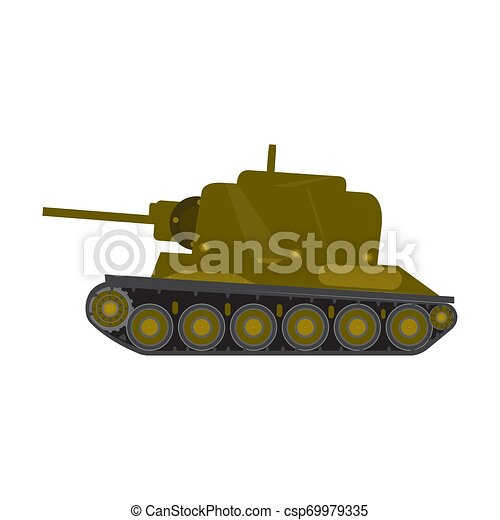 Side view of a military war tank - csp69979335