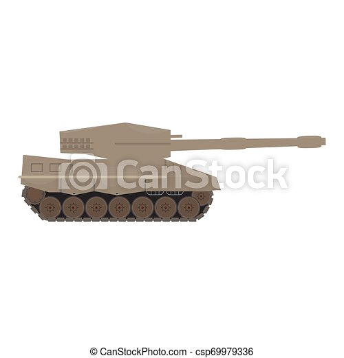 Side view of a military war tank - csp69979336