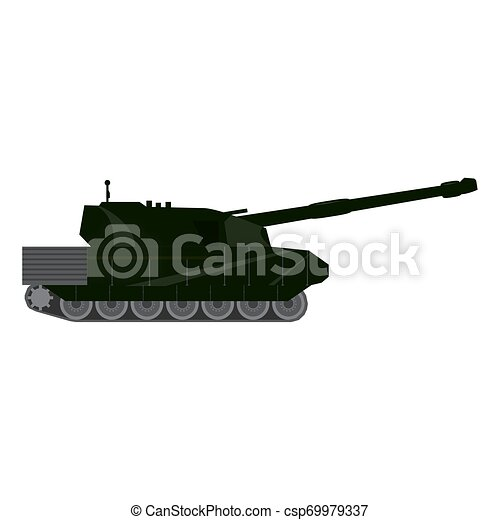 Side view of a military war tank - csp69979337