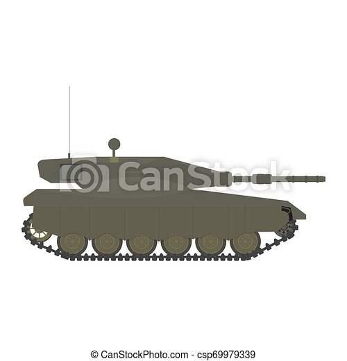 Side view of a military war tank - csp69979339