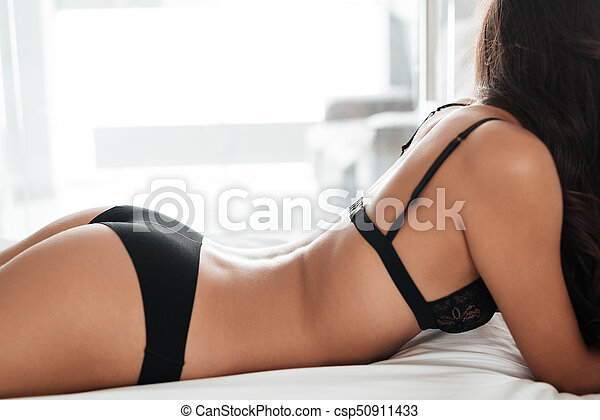 bed girl on Sexy panty