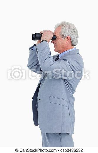 Spy on mature man