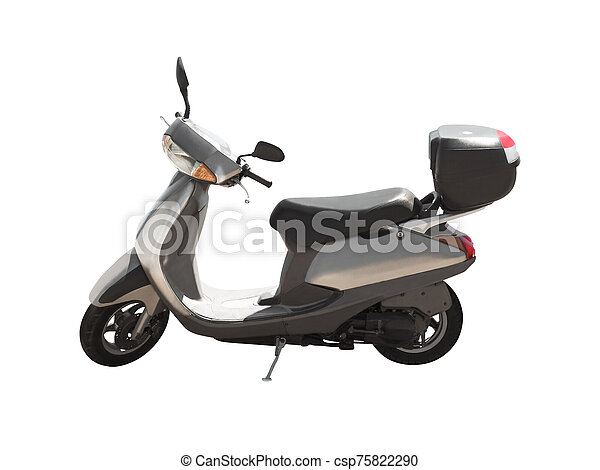 Side view of modern scooter isolated - csp75822290