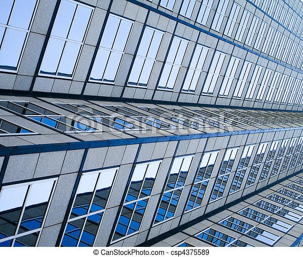 Side view of skyscraper - csp4375589