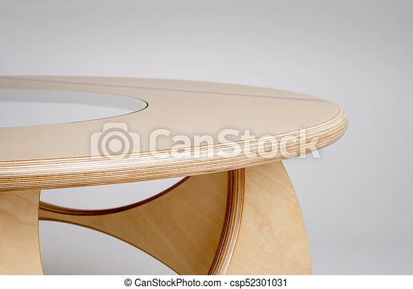 Miraculous Sideview Close Up Of Bare Wood Designer Round Table Lamtechconsult Wood Chair Design Ideas Lamtechconsultcom