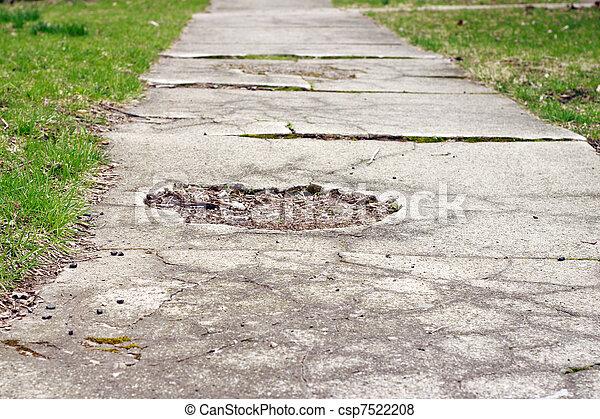Sidewalk Worn - csp7522208