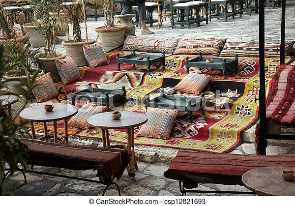 sidi, powiedziany, kawiarnia, bou - csp12821693
