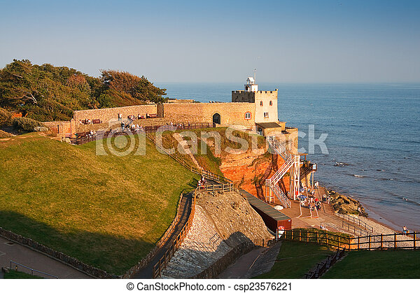 Sidmouth in Devon, UK. - csp23576221