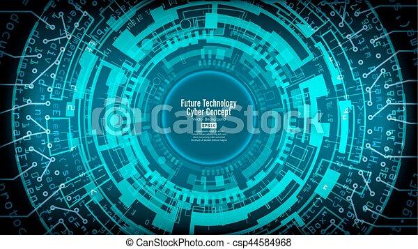 sieć, abstrakcyjny, techniczny, cześć, futurystyczny, tło, cyfrowy, bezpieczeństwo, design., szybkość, zasłona, vector. - csp44584968