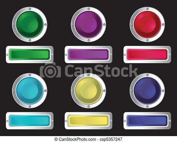 sieć, buttons. - csp5357247