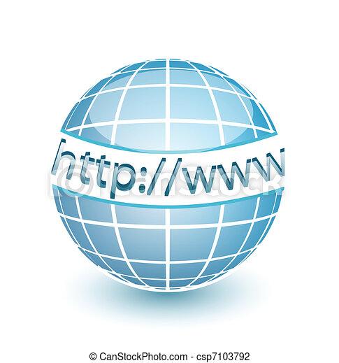 sieć, http, www, kula, internet - csp7103792