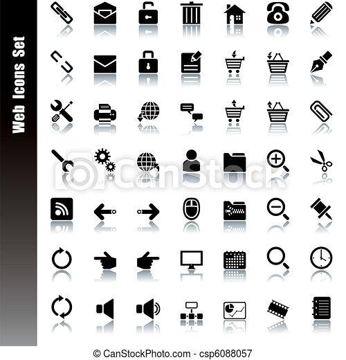 sieć, komplet, ikony - csp6088057