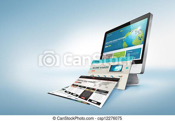 sieć, pojęcie, projektować - csp12276075