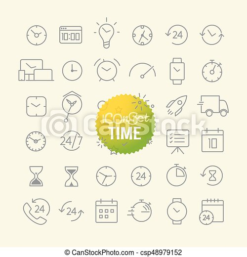 sieć, różny, szkic, ikony, ruchomy, collection., app, cienki, modny, kreska - csp48979152