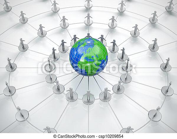 sieć, towarzyski - csp10209854