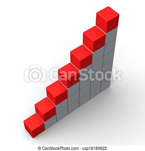 Sieben leere Schritte zeigen Kopienraum für sieben Buchstaben - csp16180622