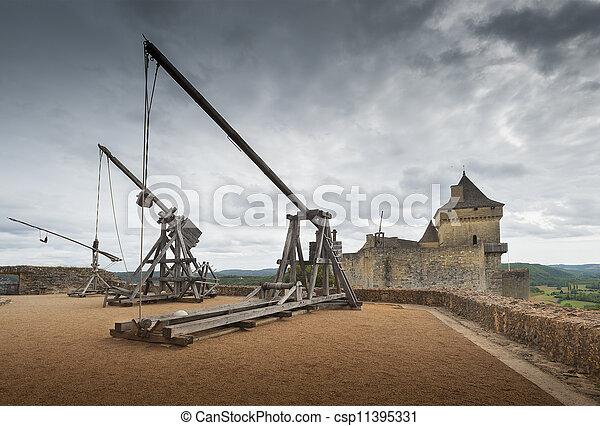 Siege catapults - csp11395331