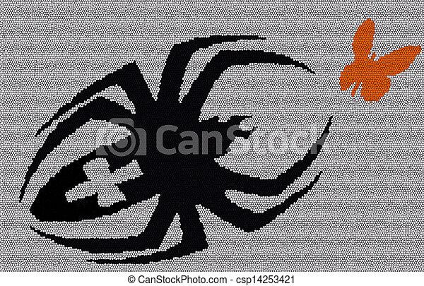 sien, araignés, victime - csp14253421