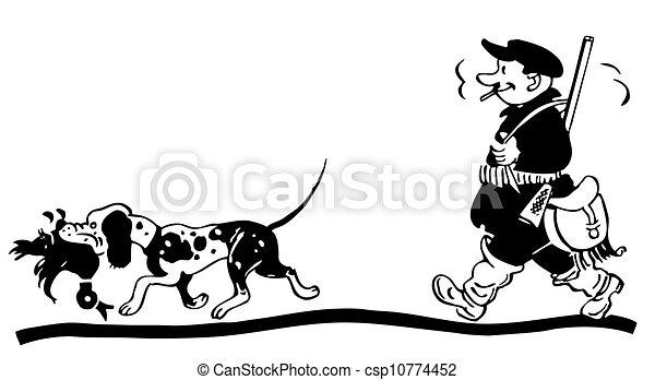 sien, chasseur, chien - csp10774452