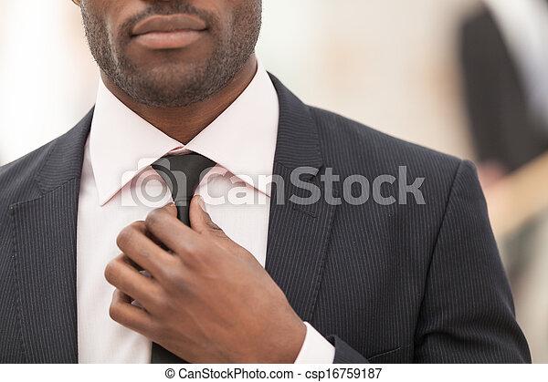 sien, cravate, ajustement, ouvrier, col blanc - csp16759187