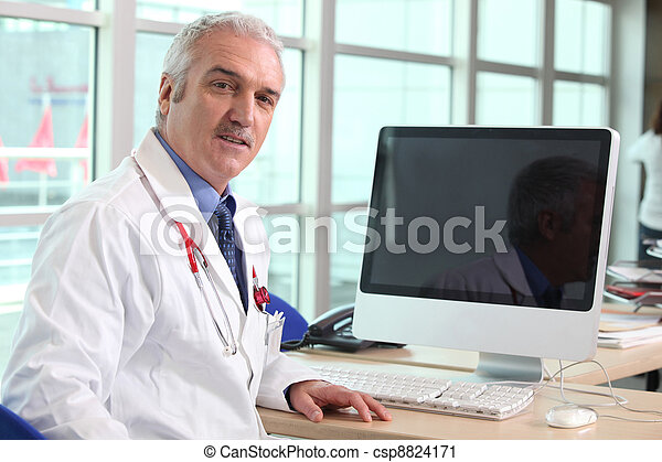 sien, docteur, bureau - csp8824171