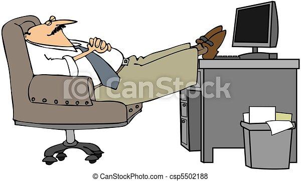 sien endormi homme bureau sien ceci prendre illustration pieds bureau nap depicts. Black Bedroom Furniture Sets. Home Design Ideas