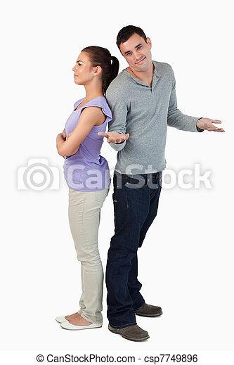 sien, ne fait pas, mâle, savoir, petite amie, mal, est, jeune - csp7749896