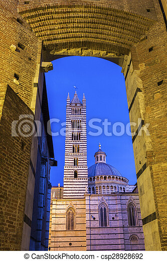 Siena Cathedral in Italy - csp28928692