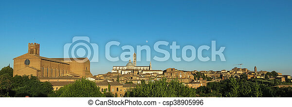 Siena cityscape with the cathedral - csp38905996