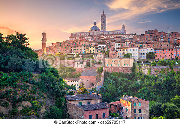 Siena, Italy. - csp59705117