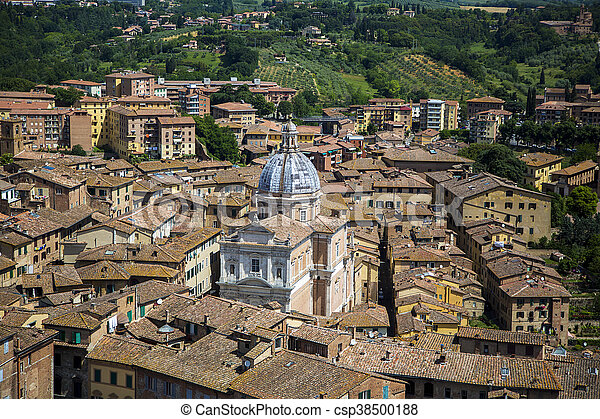 Siena, Italy - csp38500188