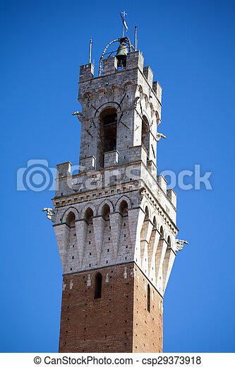 Siena, Italy. Torre del Mangia - csp29373918
