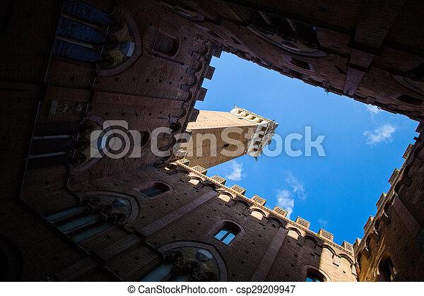 Siena, Italy. Torre del Mangia - csp29209947