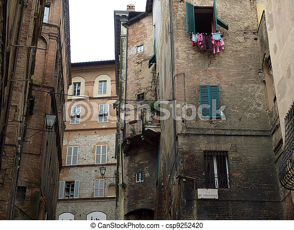 Siena - the medieval climate and characteristic colours - csp9252420
